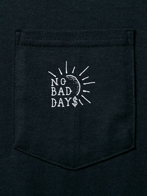 [CLUCT] L/S PKT TEE NO BAD DAYS(BK)1