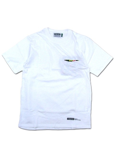 [DOUBLE STEAL] FABRIC POCKET TEE(WH)