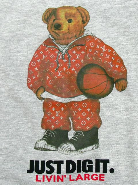 [MANIC DEE] LIVIN' LARGE RED B.B. BEAR CREWNECK SWEAT(GR)1