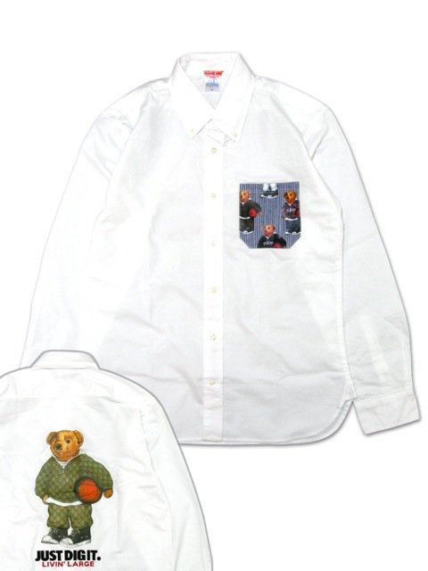 [MANIC DEE] LIVIN' LARGE B.B. BEAR ONE WASH OXFORD SHIRTS