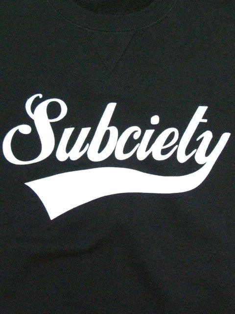 [SUBCIETY] SWEAT S/S-GLORIOUS-(BK)1