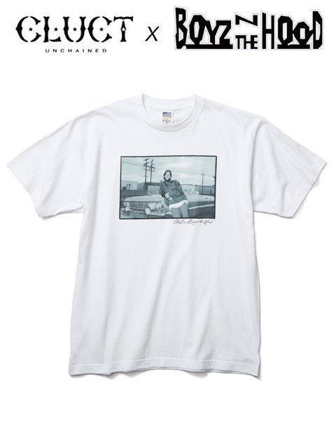 [CLUCT] BOYZ N THE HOOD × CLUCT S/S TEE(WH)