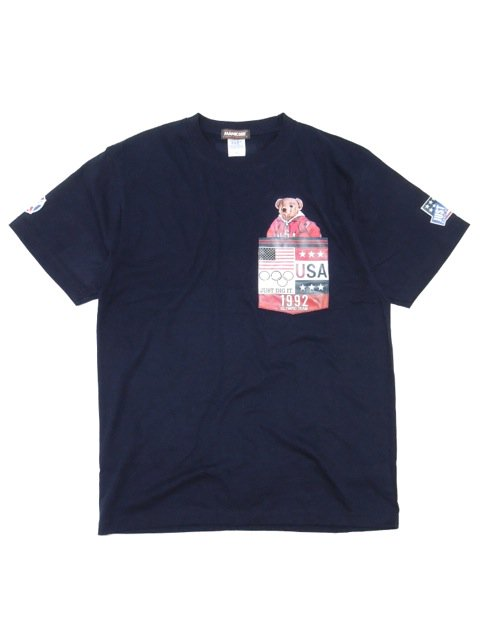 [MANIC DEE] TEAM USA 1992 BEAR POCKET TEE