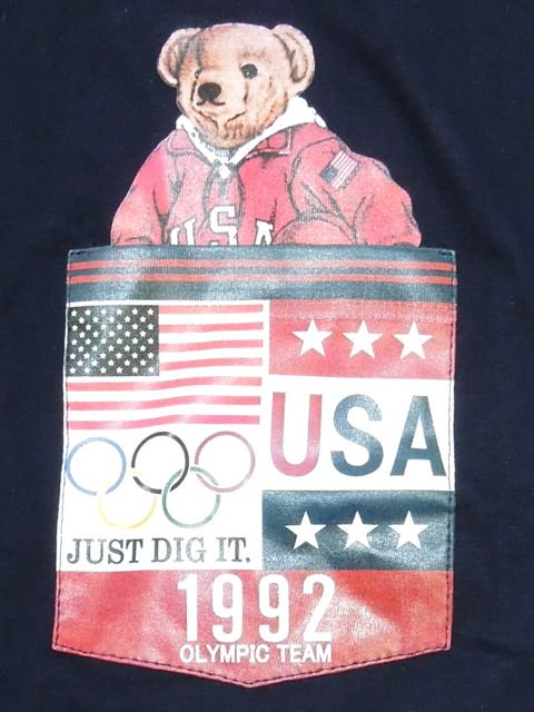 [MANIC DEE] TEAM USA 1992 BEAR POCKET TEE1