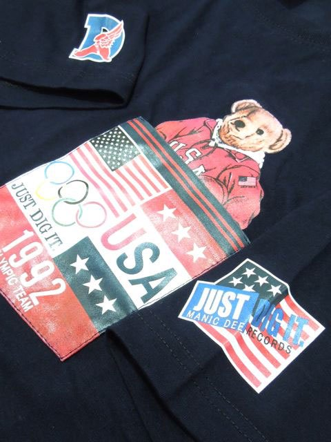 [MANIC DEE] TEAM USA 1992 BEAR POCKET TEE2