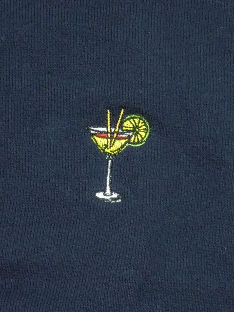 [PROJECT SR'ES] EMBROIDER COCKTAIL HALF SWEAT C&S(NV)1