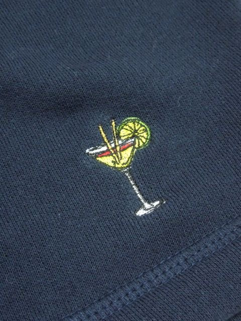 [PROJECT SR'ES ] EMBROIDER COCKTAIL SWEAT HALF PANT(NV)1