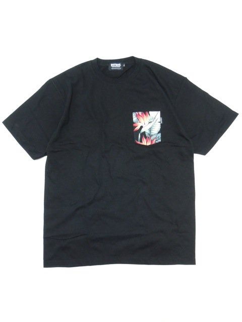 [DOUBLE STEAL BLACK] BOTANICAL POCKET TEE