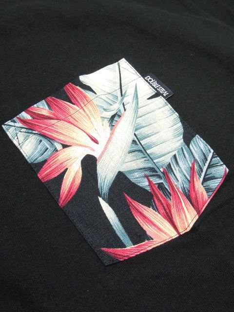 [DOUBLE STEAL BLACK] BOTANICAL POCKET TEE2
