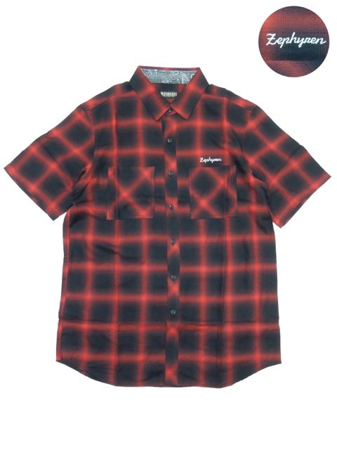 [ZEPHYREN] CHECK SHIRT S/S -Resolve-