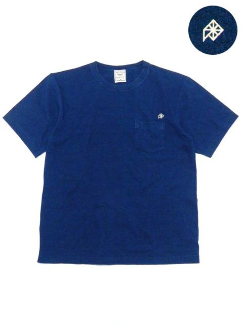 [NATURAL BICYCLE] EZONOHA embroid indigo pocket T