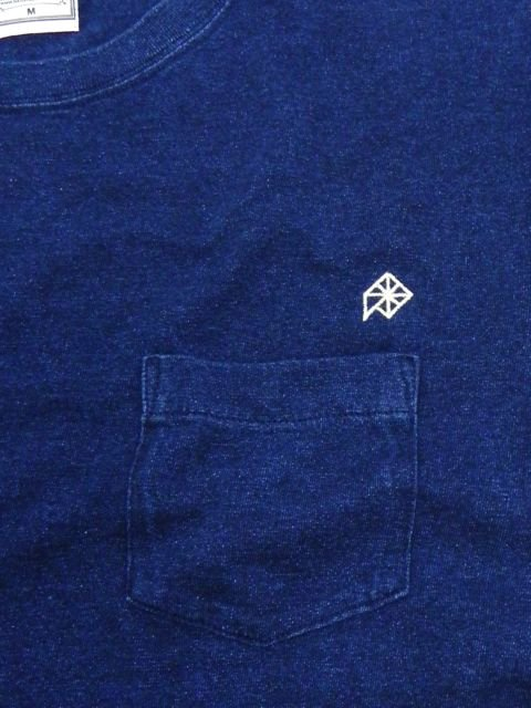 [NATURAL BICYCLE] EZONOHA embroid indigo pocket T1