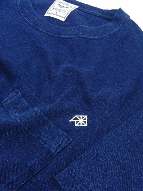 [NATURAL BICYCLE] EZONOHA embroid indigo pocket T2