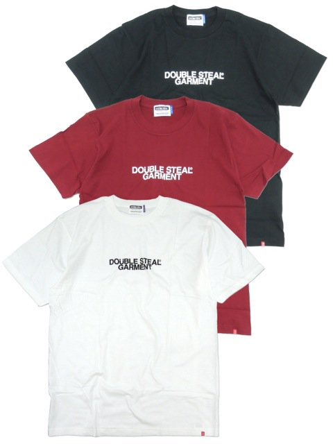 [DOUBLE STEAL BLACK] GARMENT LOGO TEE