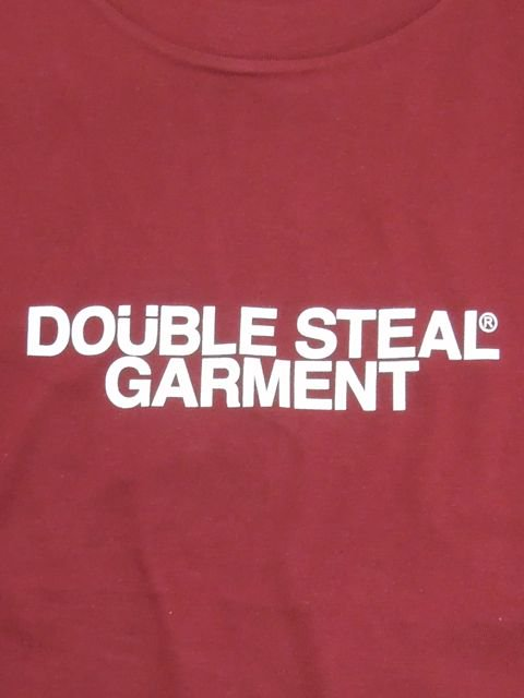 [DOUBLE STEAL BLACK] GARMENT LOGO TEE1