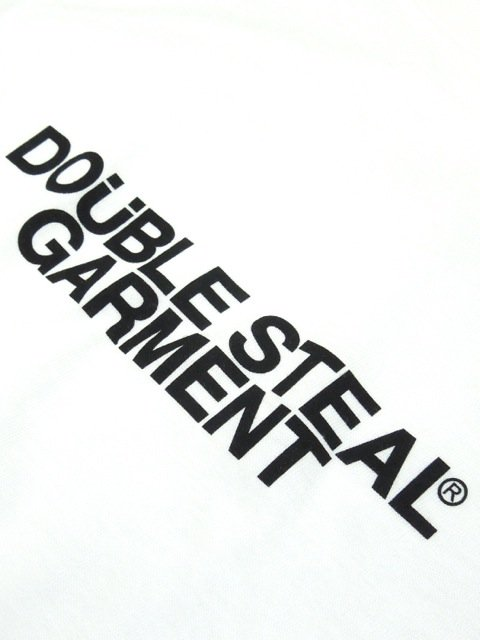 [DOUBLE STEAL BLACK] GARMENT LOGO TEE2