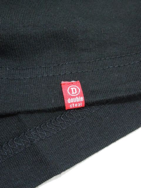 [DOUBLE STEAL BLACK] GARMENT LOGO TEE3