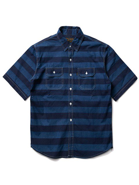 [CLUCT] DENIM BORDER SHIRTS