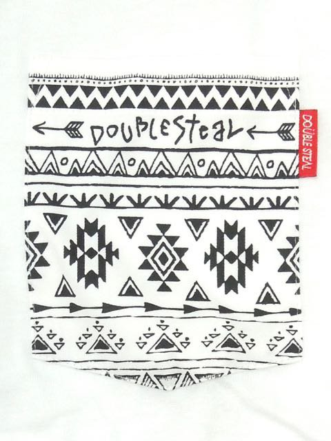 [DOUBLE STEAL BLACK] NATIVE POCKET TEE1