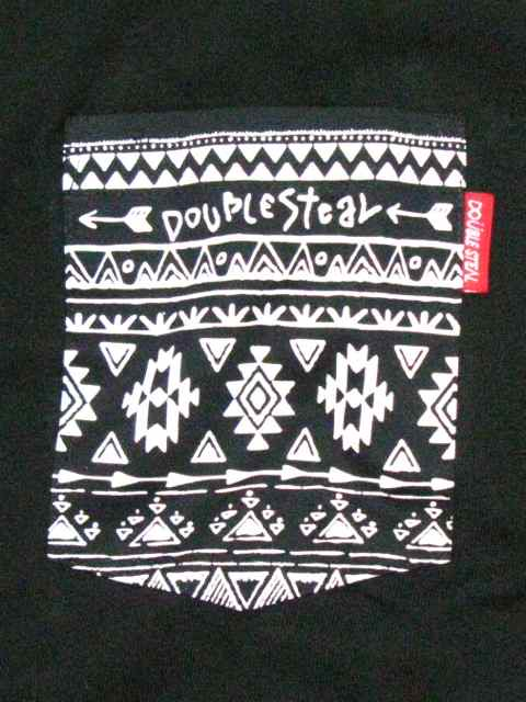[DOUBLE STEAL BLACK] NATIVE POCKET TEE2
