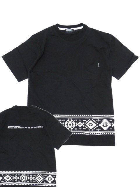 [DOUBLE STEAL BLACK] NATIVE LINE TEE