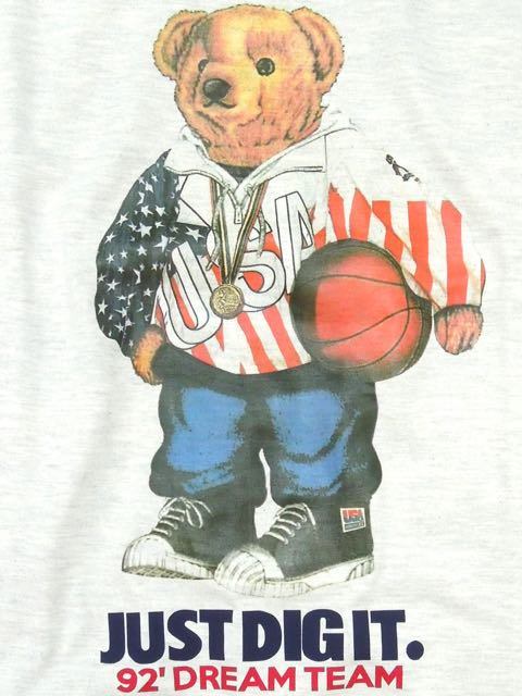 [MANIC DEE] 92' DREAM TEAM BEAR TEE1