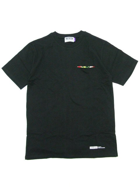 [DOUBLE STEAL] FABRIC POCKET TEE(BK)