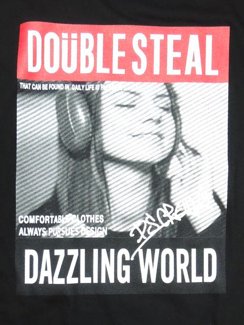 [DOUBLE STEAL BLACK] FANTASTIC GIRL TEE1