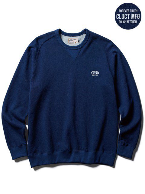 [CLUCT] INDIGO CREW NECK SWEAT(Lt.IN)