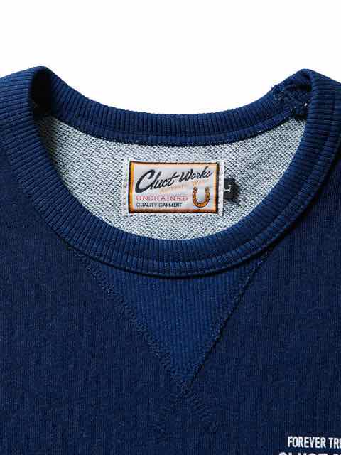 [CLUCT] INDIGO CREW NECK SWEAT(Lt.IN)2