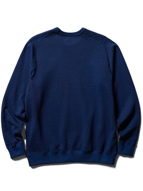 [CLUCT] INDIGO CREW NECK SWEAT(Lt.IN)3