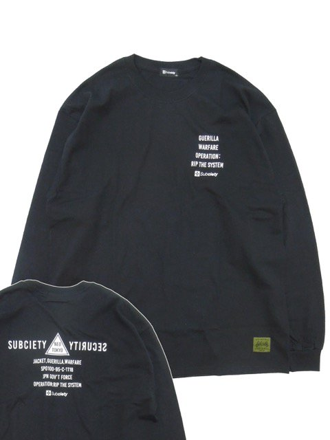 [SUBCIETY] SECTION L/S(BK)