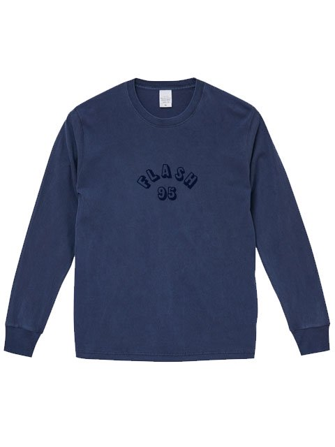 [FLASH POINT] FLASH 95 EMB PIGMENT DYE L/S TEE(NV)
