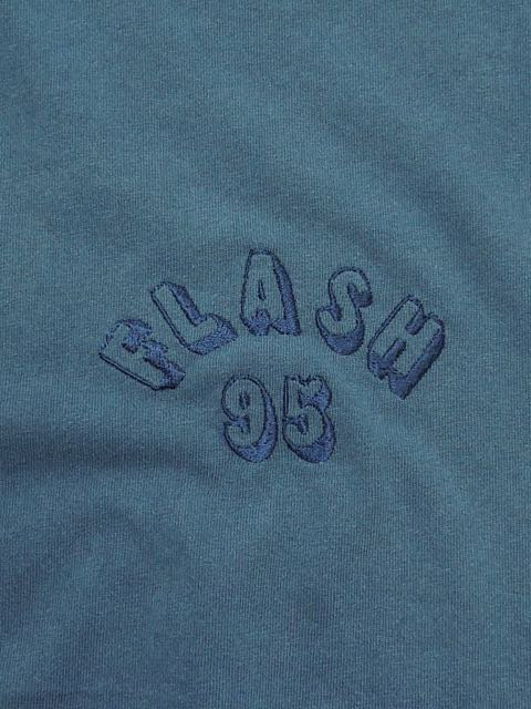 [FLASH POINT] FLASH 95 EMB PIGMENT DYE L/S TEE(NV)1