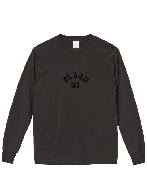 [FLASH POINT] FLASH 95 EMB PIGMENT DYE L/S TEE(BK)