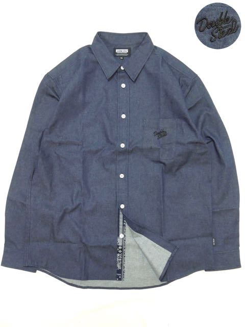 [DOUBLE STEAL BLACK] PARTS PATTERN DENIM SHIRT