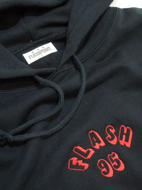 [FLASH POINT] FLASH 95 EMB P/O HOODY(BK)2