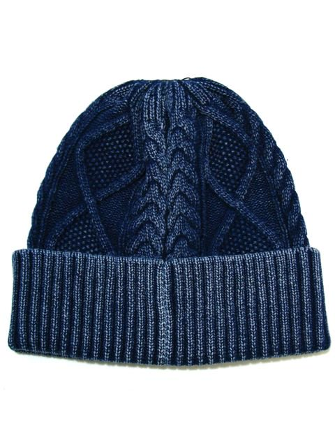 [DOUBLE STEAL BLACK] DENIM KNIT CAP3