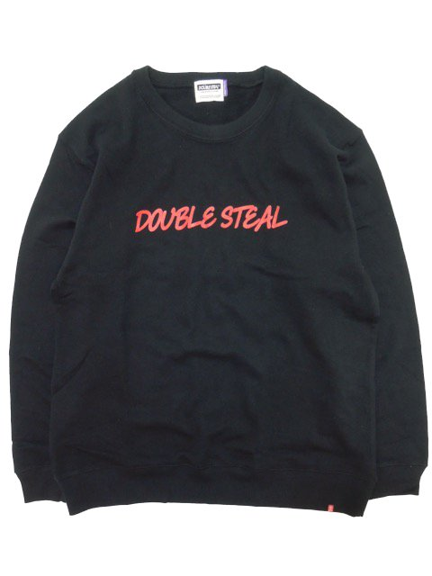 [DOUBLE STEAL] ROUGH LOGO CREWNECK SWEAT