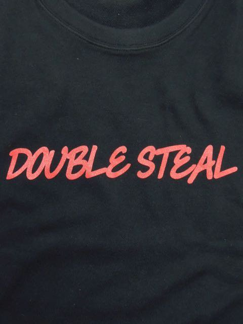 [DOUBLE STEAL] ROUGH LOGO CREWNECK SWEAT1