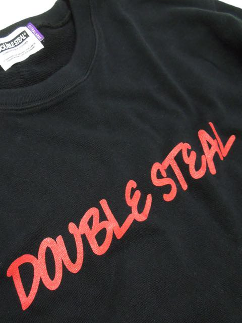 [DOUBLE STEAL] ROUGH LOGO CREWNECK SWEAT2