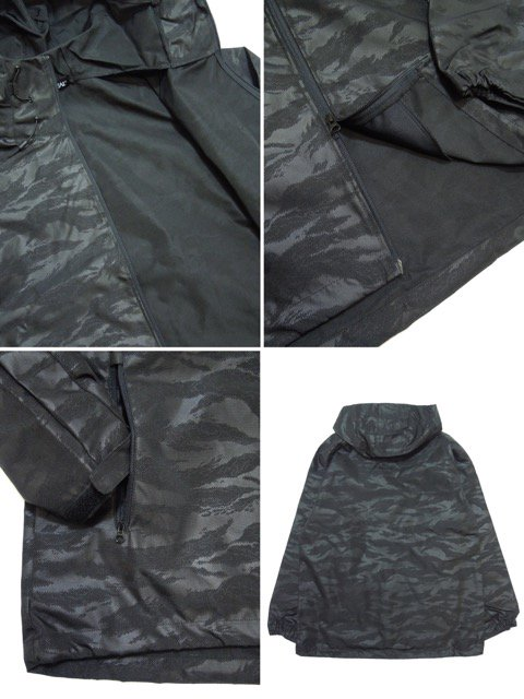 [DOUBLE STEAL BLACK] BLACK CAMO Shell Parka Jacket3