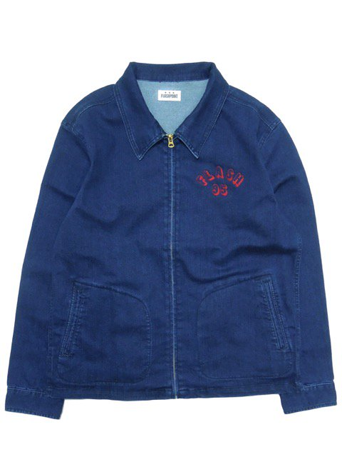 [FLASH POINT] FLASH 95 EMB DENIM DRIZZLER JACKET type-1(IN)