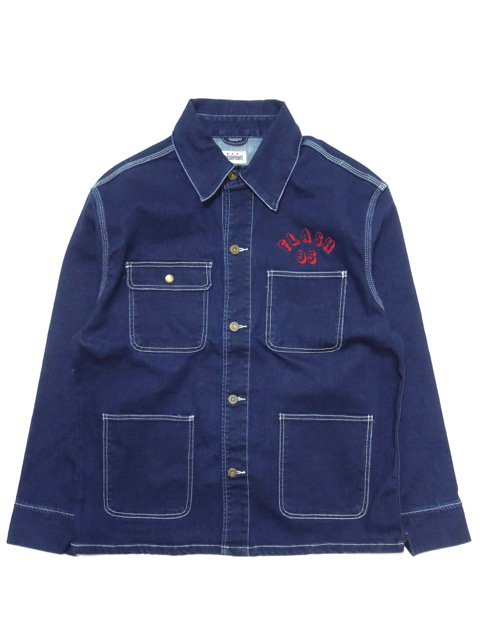 [FLASH POINT] FLASH 95 EMB DENIM COVERALL JACKET(IN)