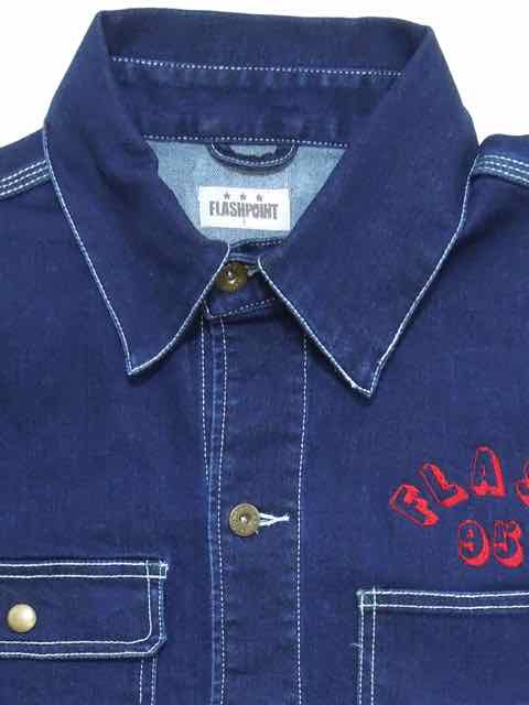 [FLASH POINT] FLASH 95 EMB DENIM COVERALL JACKET(IN)2