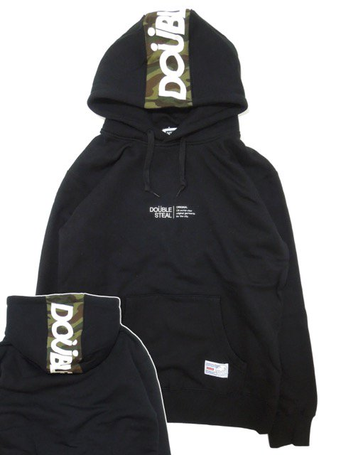 [DOUBLE STEAL] LINE LOGO HOOD