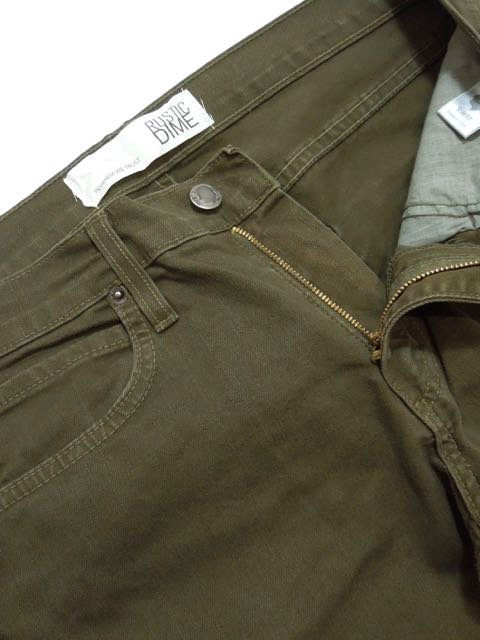 [RUSTIC DIME] SLIM FIT PANTS(OL)1