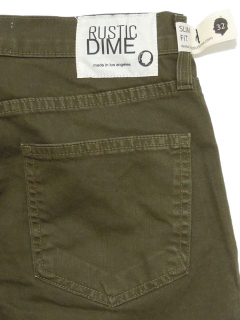 [RUSTIC DIME] SLIM FIT PANTS(OL)2