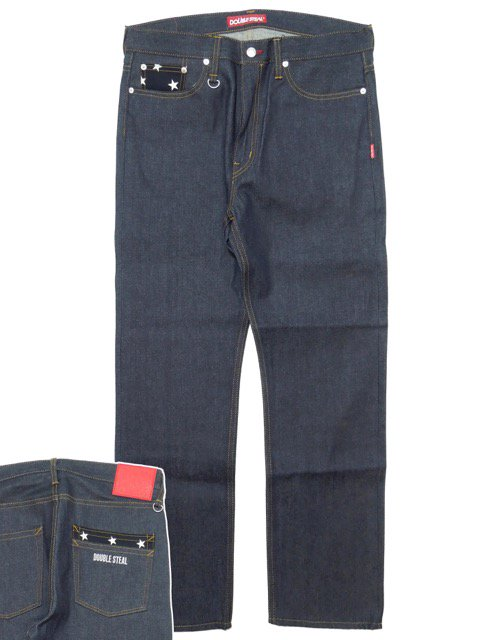 [DOUBLE STEAL] STAR POCKET NARROW DENIM