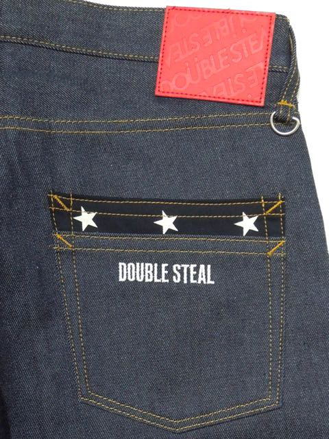 [DOUBLE STEAL] STAR POCKET NARROW DENIM2